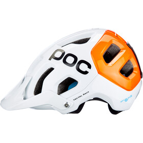 POC Tectal Race Spin NFC Casque, blanc/orange